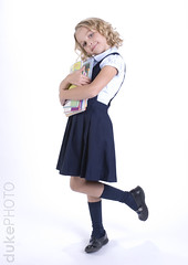 school daze (matt duke) Tags: school portrait girl kids children happy reading uniform books aubrey backtoschool mattdukephoto