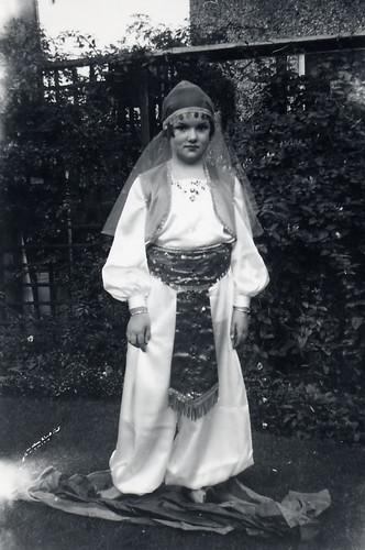 Eastern lady fancy dress about 1956