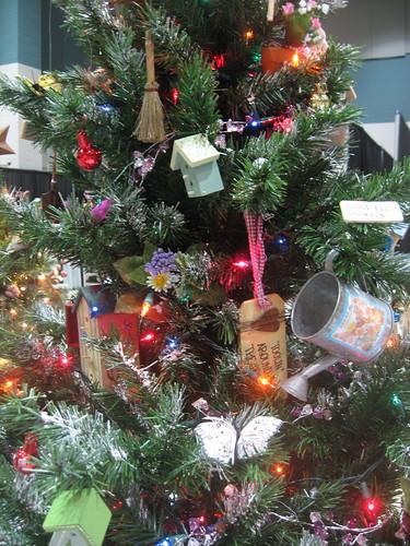 garden themed christmas trees