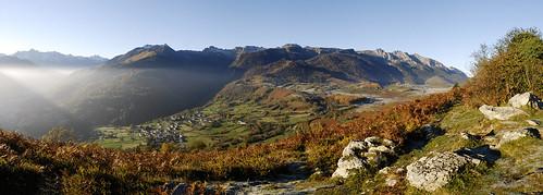 Panorama du Plateau du Benou vue des Cromlechs de Lou courau