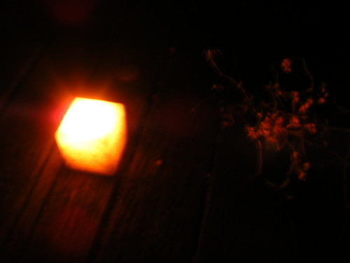 Candle on the fire escape