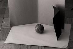 Pomegranate with water drops setup (mcmullen-smith) Tags: water drops nikon pomegranate cardboard fujifilm newsprint spraybottle sb800 s5pro
