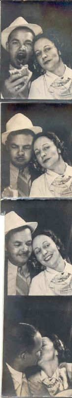 Vintage photobooth Nanny and Gramps