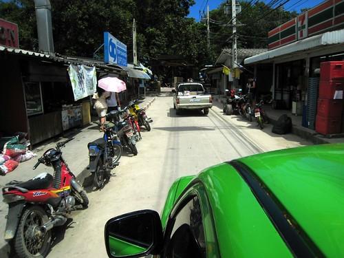 Taking a sawngthaew to Ao Phai
