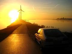 Wind mills (Mingo.nl) Tags: winter sunset holland mill ice water netherlands windmill dutch se windmills turbo mills saab 900