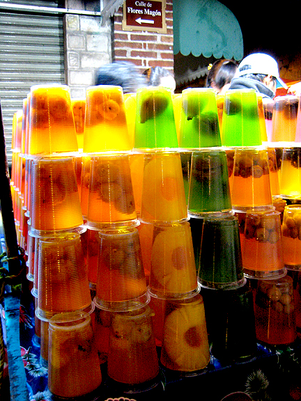 Fruit Jello in Oaxaca