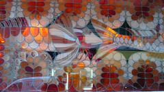 07 janvier 2008 Paris 4 rue Delambre Restaurant de poissons Vitrail  (1) (melina1965) Tags: leica light orange brown fish paris lumix lumière façades january panasonic vitrail fishes 2008 poisson janvier stainedglasswindow mosca brun poissons fishmongers stainedglasswindows vitraux 75014 blueribbonwinner poissonnerie fx10 14earrondissement
