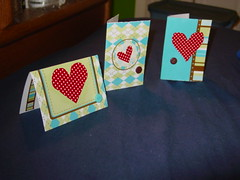 three valentines (cassie o'keyboard) Tags: cards crafts valentines