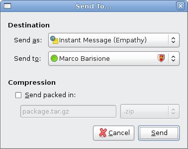 Sending a file with nautilus-sendto