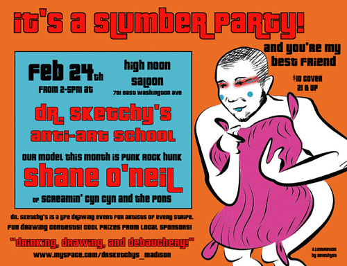 Feb '08 Dr. Sketchy's poster