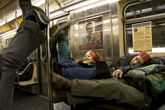 subway feet (mizmareck) Tags: nyc newyorkcity subway amber shoes publictransit albert gothamist 7train andyclymer julietgabrielle