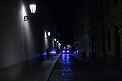Blue my way! (mischuge) Tags: blue car bravo prague walk beautifullight headlights lamps theczechrepublic 510faves blueribbonwinner 50club vojanovysady anawesomeshot february08 wanderingatnite
