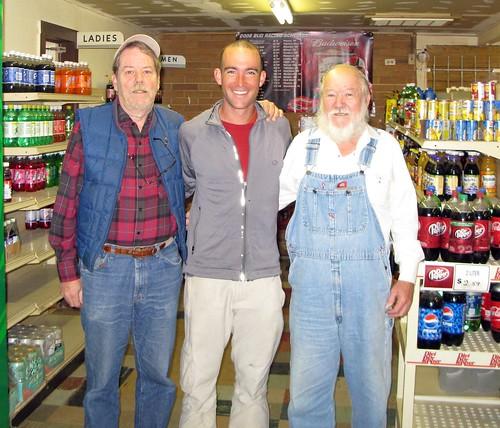 Friendly fellows Ben and Bubba in a store on TX105, Texas, USA