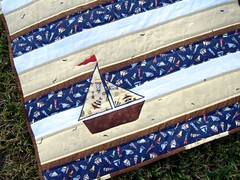 sailboat quilt detail and border