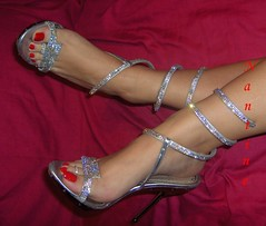 Swarovski Art 5 (Kwnstantina) Tags: feet foot highheels sandals arches barefoot swarovski paintednails longnails