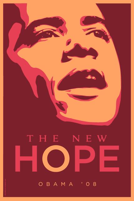 Barack Obama Poster Magenta