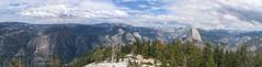 On Sentinel Rock  1 ( Slices of Light   ) Tags: california park panorama usa mountain nature america canon nationalpark top hike yosemite halfdome amerika stitched kalifornien californie estadosunidos s1is canons1is amrique  tatsunis sentinelrock vereinigtestaaten