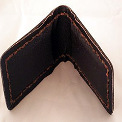 inside money clip (copperspringsleather) Tags: sun moon leather moneyclip copperspringsleather