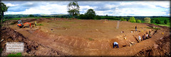 A ringfort at Halftown Road, Ballygawley (J-mak) Tags: panorama archaeology rath excavation ringfort ballygawley