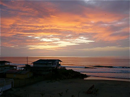 Ecuador coastal sunset