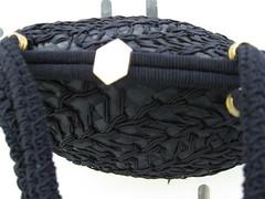 Lanza Italian Raffia Bag (JoulesVintage) Tags: 1960s darkblue lanza vintagepurse italianraffia