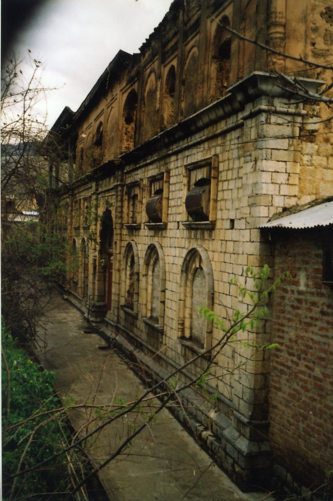 Leftover facade of the family mansion of Ishar Dass in Nawansher, near Abbottabad,...inside is all gone,..and we wait ,for how long this outer wall will stay..??
