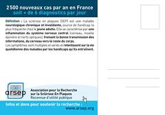 Cart'Com Notre Sclérose - ARSEP (verso)