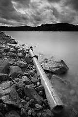 Pipe Dreams (Tim Donnelly (TimboDon)) Tags: ocean blackandwhite bw storm clouds abigfave ultimateshot