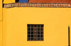A Window in a Yellow Wall (albireo2006) Tags: wallpaper italy colour window yellow italia vivid pisa amarillo giallo tuscany toscana toskana     5photosaday  newacademy justpentax travelon5photosaday