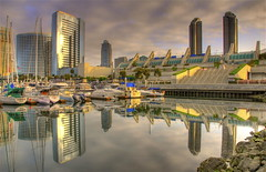 San Diego marina in the early morning (slack12) Tags: marina sunrise sandiego hdr superaplus aplusphoto