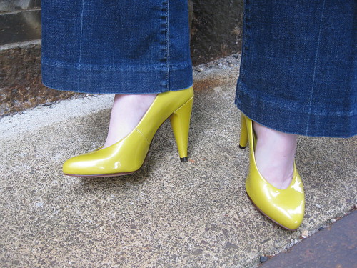 yellow aldo heels lemon