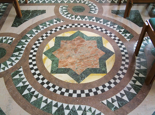 Cathedral Basilica of Saint Louis, in Saint Louis, Missouri - Our Lady's Chapel - tile floor