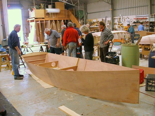 Goat Island Skiff Plywood boat assembly method