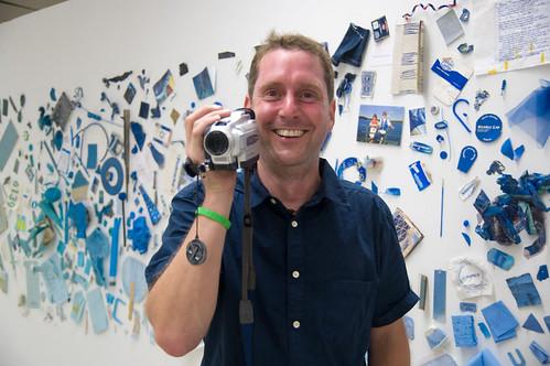 Man Blushing with Camera