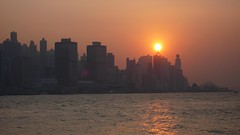 Hong Kong  - Sunset (cnmark) Tags: china sunset orange ferry skyline geotagged hongkong harbor harbour terminal hong kong  macau wan  tak shun sheung allrightsreserved colourartaward geo:lat=22294 geo:lon=114168259