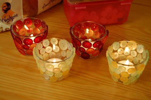 4 button candle holders