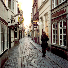 Bremen (Peter Gutierrez) Tags: street old city urban streets film public shop port river germany square photo europe european pavement free cobblestones sidewalk peter german shops gutierrez format bremen weser northwestern cobbles altstadt soe freie hansestadt municipality hanseatic citystate viertel schnoor supershot petergutierrez stadtgemeinde