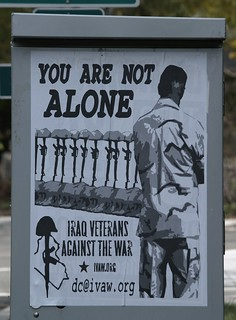 IVAW .You Are Not Alone. Poster (Takoma Park, DC)