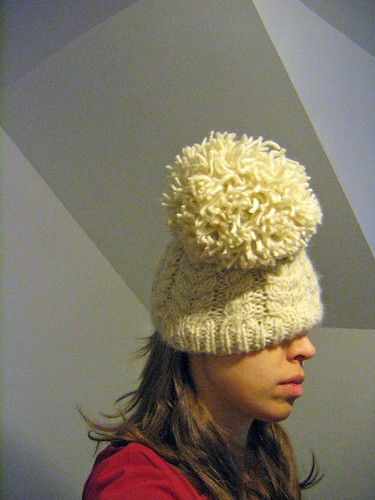 Cream Cabled Hat