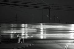 Fast Trains (Maxwell Edison*) Tags: street blackandwhite bw ny night train canon fast railway explore cw xti thatsclassy