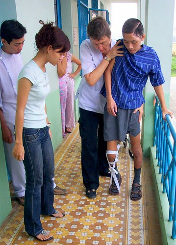 Gait Training Brain-Injured Boy
