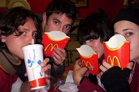 Como en los McDonalds de todo el mundo. Sí, es triste.