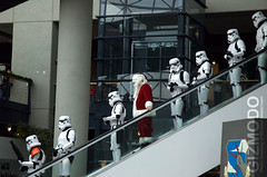 Santa and the imperial troopers