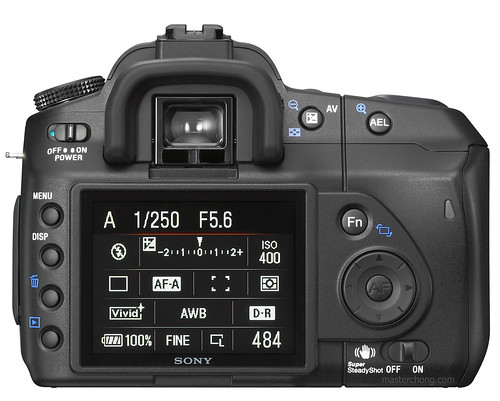 Sony Alpha A200 (dslr a200) Back