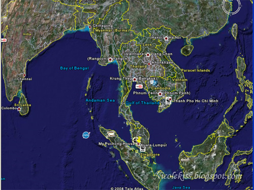 google earth Thailand