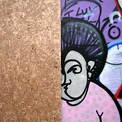 Little Old Lady (weirdoldhattie) Tags: painting graffiti bedminster plywood halfandhalf chipboard