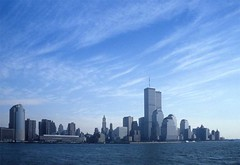 Once upon a time ... (Rob de Hero) Tags: nyc ny newyork skyline analog manhattan worldtradecenter towers twin slide dia twintowers wtc analogue circleline
