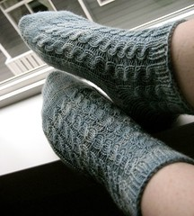 Cabled Bed Socks