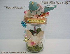 I will Teach You to Fly (an AlTeReD FaIrY TaLe) Tags: bird art birds collage altered toy pull mixed whimsy media folk captured fairy fantasy faeries whimsical