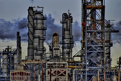 Oil Industry (A guy with A camera) Tags: plant canada industry nikon energy industrial power pipes gas coker pollution alberta oil environment process emissions chemicals refinery bitumen hdr vapour tanks stacks globalwarming crude petroleum manufacture hydrocarbon upgrader fossilfuels petrochemical refine heavyoil d80 abigfave diamondclassphotographer betterthangood